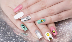 Bee Lemon ( Beyonce ) Nail Art