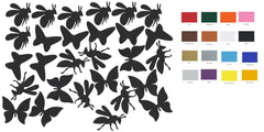 Bee Butterfly Vinyl Stickers ( Multiple colours to choose from )