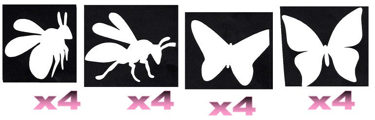 32 Bee and Butterfly Tattoo Stencils