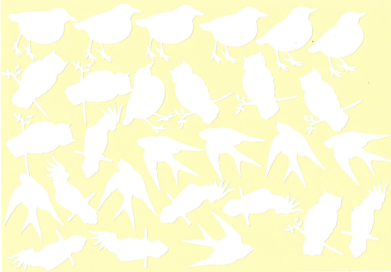 Birds Vinyl Stickers ( Multiple colours to choose from )