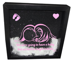 We Were Gonna Have a Baby, But We Had an Angel Instead ( Black  Frame, Pink  Angel )