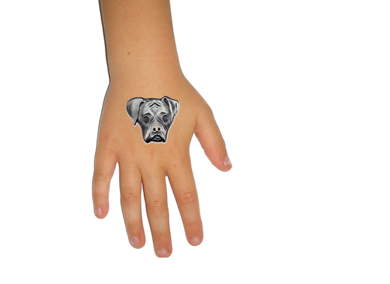 Boxer Dog  Temporary Tattoos