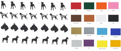Boxer dog Vinyl Stickers ( Multiple colours to choose from )