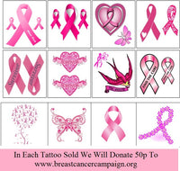 Breast Cancer Awareness Temporary Tattoos