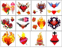 Burning Heart Temporary Tattoos