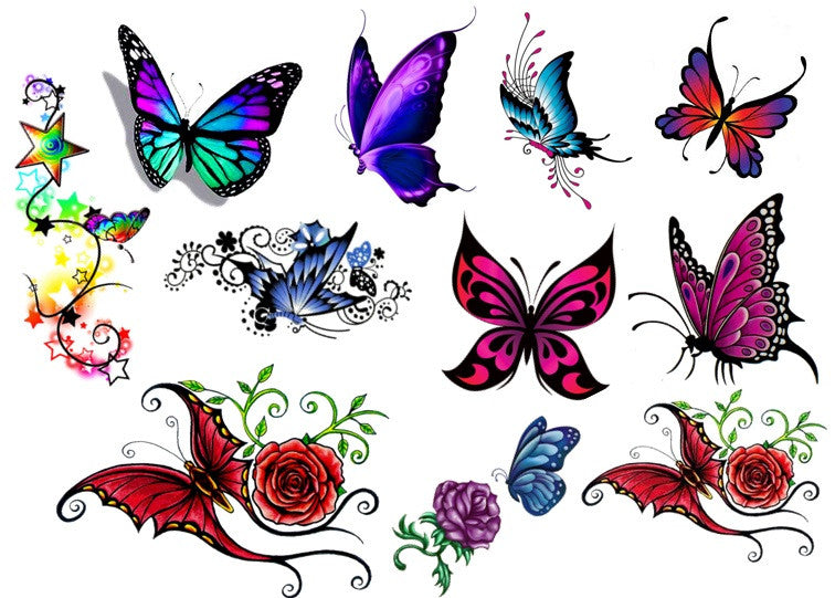 Butterfly Code 2 Temporary Tattoos