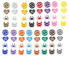 Cancer Zodiac Vinyl Stickers ( Multiple colours to choose from )