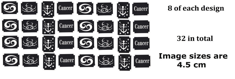 Cancer Zodiac  Tattoo Stencils