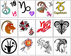 Capricorn Temporary Tattoos