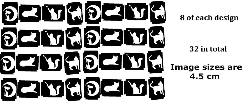 Cat Tattoo Stencils pack of 32 c2