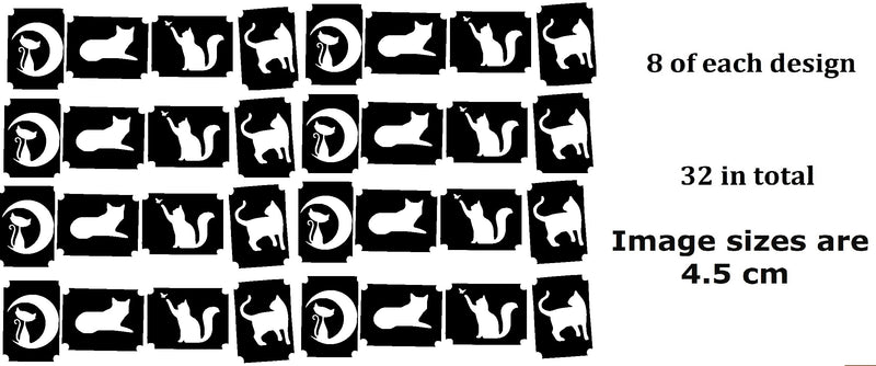 32  Cat Tattoo Stencils Code 2