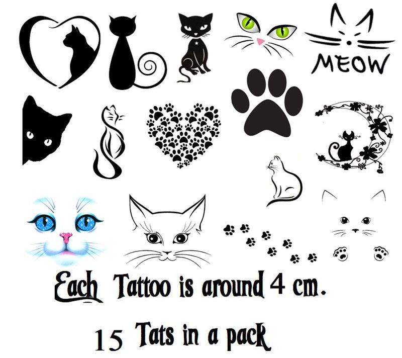 Cat Temporary Tattoos c3