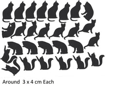 Cat Vinyl Stickers ( Multiple colours to choose from )