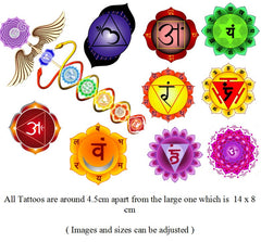 Yoga Chakra  Temporary Tattoos