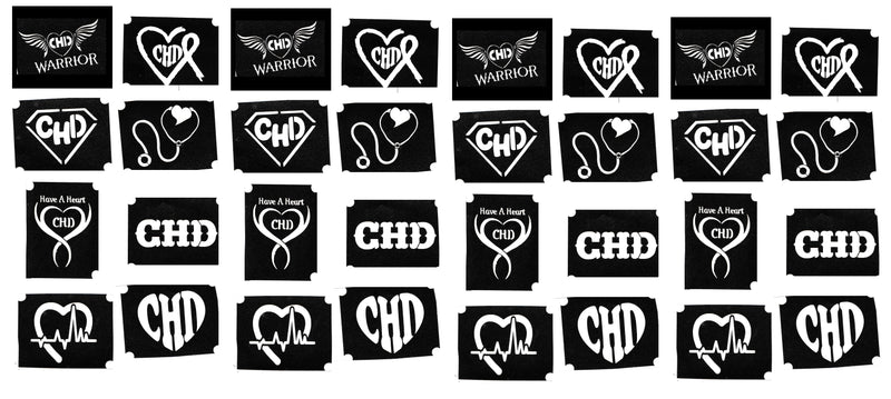 Congenital heart disease  CHD Awareness Tattoo Body Art  Stencils