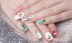 Cherries and Strawberries Nail Art