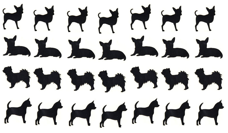 Chihuahua Dog Vinyl Stickers ( Multiple colours to choose from )