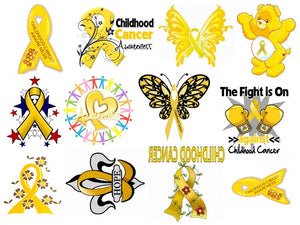 Childhood Cancer Temporary Tattoos