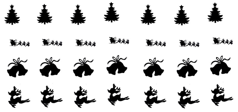 Christmas Vinyl Stickers ( Multiple colours to choose from )