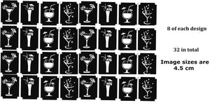 32  Cocktail Drinks  Tattoo Stencils
