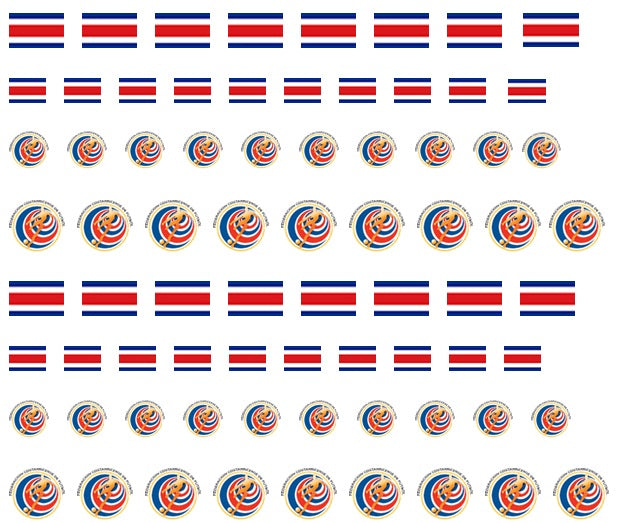 Costa Rica Nail Art Decals