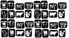 32  Cow Tattoo Stencils
