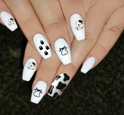 Cow Nail Art Decals