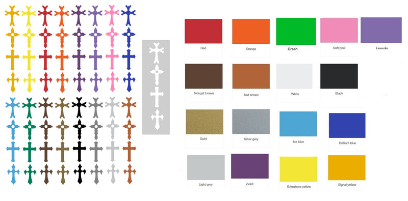Cross Vinyl Stickers ( Multiple colours to choose from )