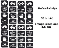 32  Crown Tattoo Stencils