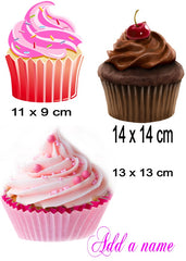 Cupcake Personalised  Iron On Transfer