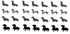 Dachshund  Dog Vinyl Stickers ( Multiple colours to choose from )