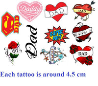 Fathers Day Dad Temporary Tattoos
