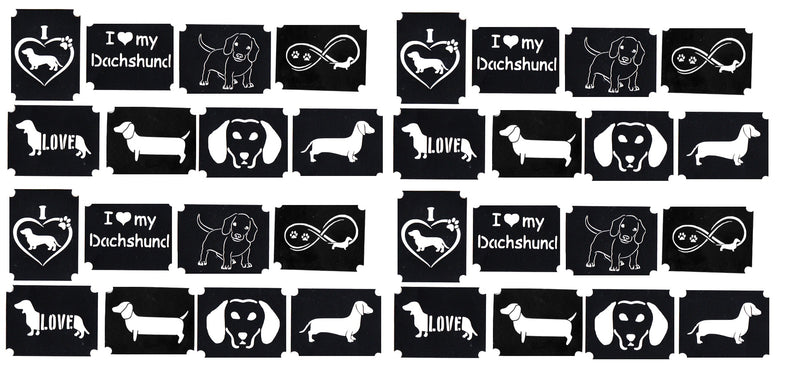 32 Dachshund Dog Tattoo Stencils