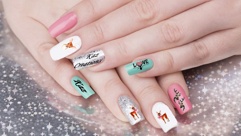 Deer Nail Art Decals