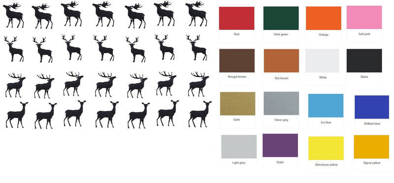 Deer Stag Vinyl Stickers ( Multiple colours to choose from )