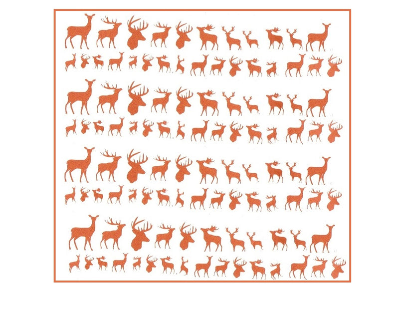 Deer Nail Stickers