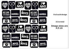 NHS Support Tattoo Stencils