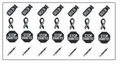 Diabetes Awareness Vinyl Stickers ( Multiple colours to choose from )