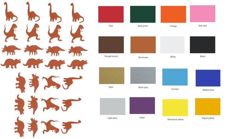 Dinosaur Vinyl Stickers ( Multiple colours to choose from )