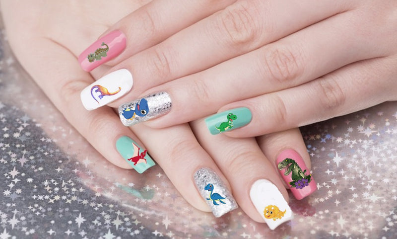 Dinosaur Nail Art Decals ( 2 different sets to choose from )