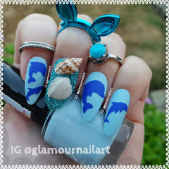 Dolphin  Nail Stickers
