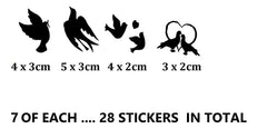 Dove Vinyl Stickers ( Multiple colours to choose from )