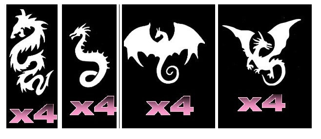 32 Dragon Tattoo Stencils