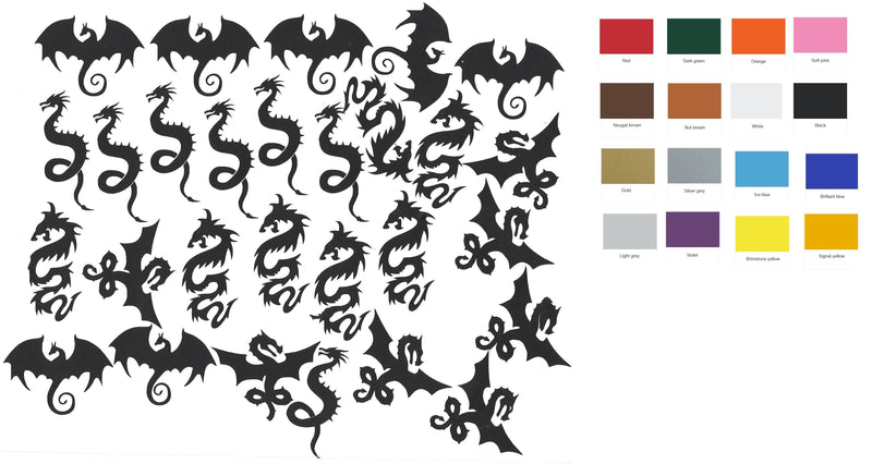 Dragon Vinyl Stickers ( Multiple colours to choose from )