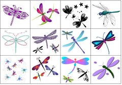 Dragonfly Temporary Tattoos