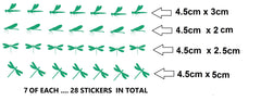 Dragonfly Vinyl Stickers ( Multiple colours to choose from )