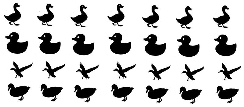 Duck Vinyl Stickers ( Multiple colours to choose from )