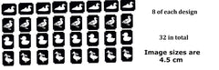 Duck Tattoo Stencils pack of 32