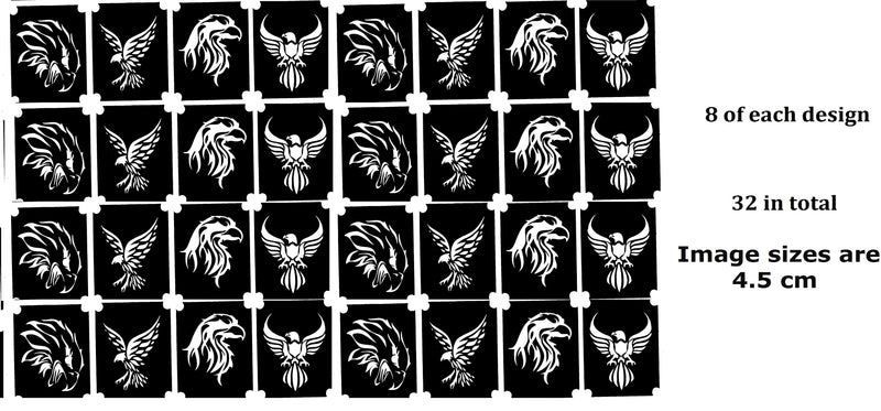 32 Eagle Tattoo Stencils