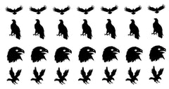 Eagle Vinyl Stickers ( Multiple colours to choose from )